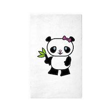cute panda.jpg 3'x5' Area Rug