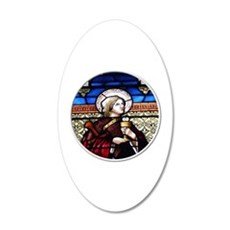 ST. BARBARA STAINED GLASS WINDOW Wall Decal