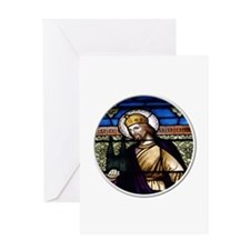St. Henry Stained Glass Window Greeting Card