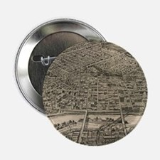 """Vintage Pictorial Map of St. Paul Min 2.25"""" Button"""