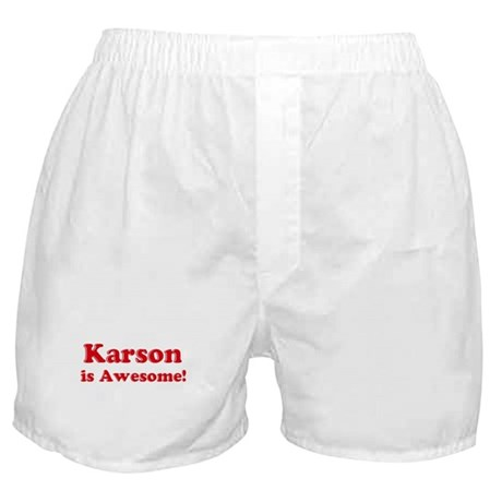 Karson is Awesome Boxer Shorts
