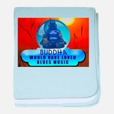 Buddha Blues baby blanket