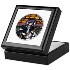 St. Rose of Lima Stained Glass Window Keepsake Box