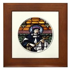 St. Rose of Lima Stained Glass Window Framed Tile