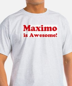 Maximo is Awesome Ash Grey T-Shirt