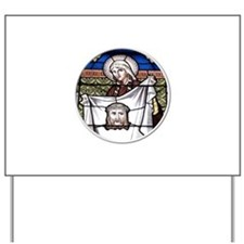 St. Veronica Stained Glass Window Yard Sign