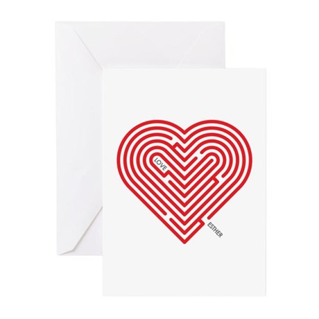 I Love Esther Greeting Cards (Pk of 10)