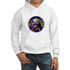 St. Anne Stained Glass Window Hoodie