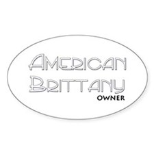 American Brittany Owner Oval Decal