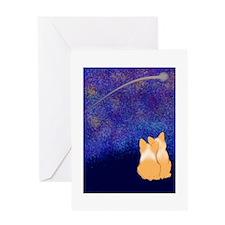 Corgi Night Love Greeting Card