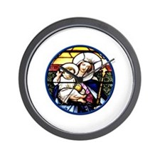 Jesus and Mary Stained Glass Window Wall Clock