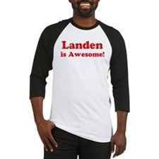 Landen is Awesome Baseball Jersey