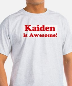 Kaiden is Awesome Ash Grey T-Shirt