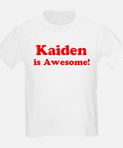 Kaiden is Awesome Kids T-Shirt