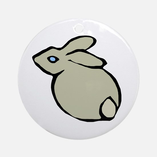 Bunny Back Ornament (Round)