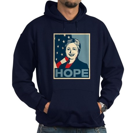 Hillary Clinton Hope Poster Hoodie