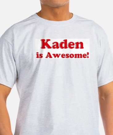 Kaden is Awesome Ash Grey T-Shirt