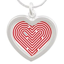 I Love Grace Silver Heart Necklace