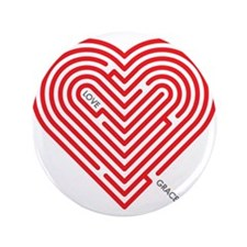"""I Love Grace 3.5"""" Button (100 pack)"""