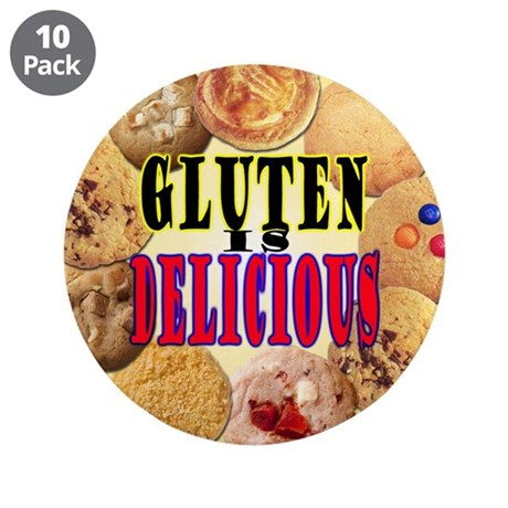 "Gluten is Delicious 3.5"" Button (10 pack)"
