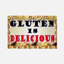 Gluten is Delicious Rectangle Magnet