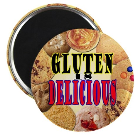 "Gluten is Delicious 2.25"" Magnet (100 pack)"