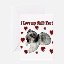 I Love my Shih Tzu- Ily Greeting Card