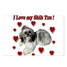 I Love my Shih Tzu- Ily Postcards (Package of 8)