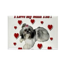 I Love my Shih Tzu- Ily Rectangle Magnet (100 pack