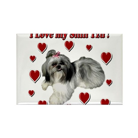 I Love my Shih Tzu- Ily Rectangle Magnet