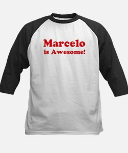 Marcelo is Awesome Kids Baseball Jersey