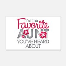 Favorite Aunt Car Magnet 20 x 12