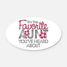 Favorite Aunt Oval Car Magnet