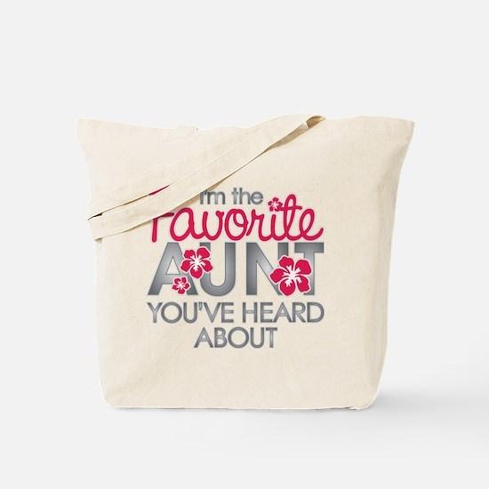 Favorite Aunt Tote Bag