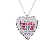 Favorite Aunt Necklace Heart Charm