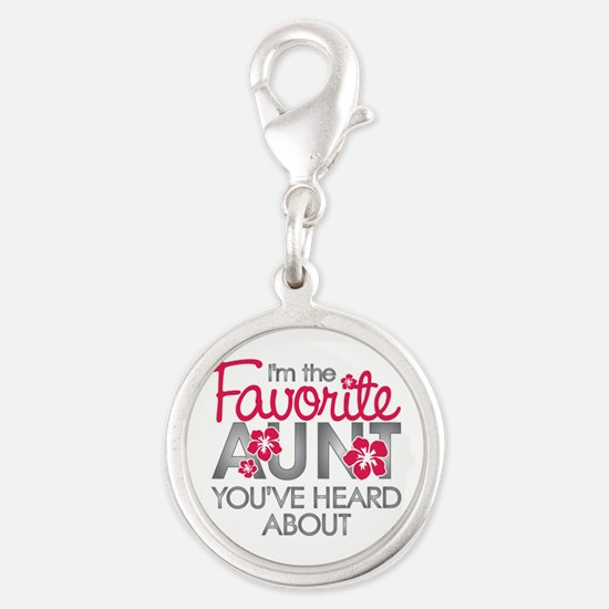 Favorite Aunt Silver Round Charm