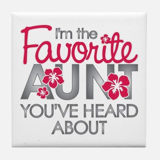 Favorite Aunt Tile Coaster