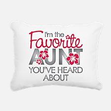 Favorite Aunt Rectangular Canvas Pillow