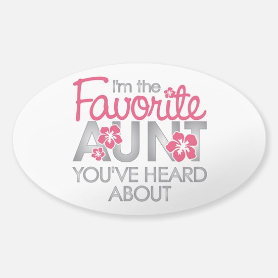 Favorite Aunt Sticker (Oval)