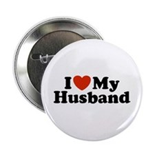 I Love My Husband Button