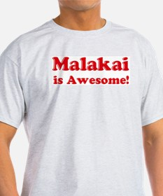 Malakai is Awesome Ash Grey T-Shirt