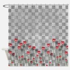 Chess Love Hearts Shower Curtain