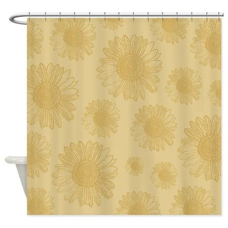 Gold Sunflowers Shower Curtain