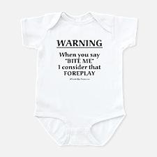 Biting Foreplay Infant Bodysuit