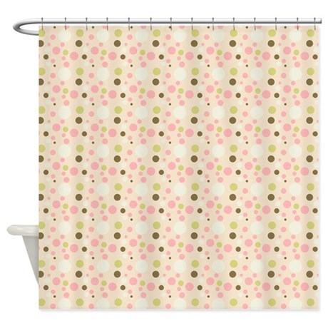 Whimsical Pastel Dots Shower Curtain By Be Inspired By Life