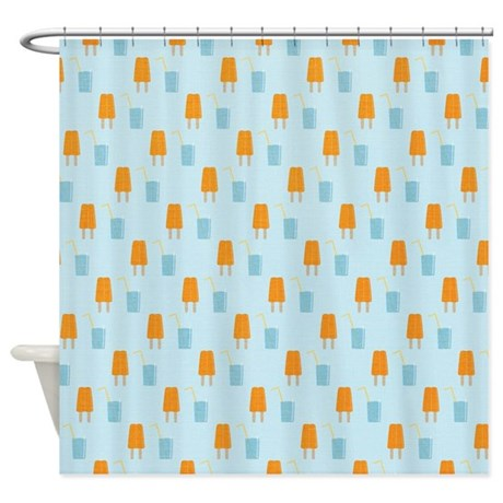 Summer Popsicle Shower Curtain
