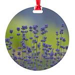 Lavender Flowers Round Ornament