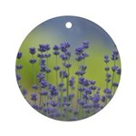 Lavender Flowers Ornament (Round)
