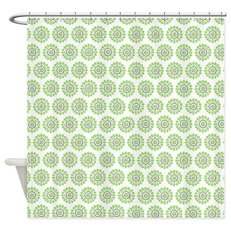 Light Green Design Pattern Shower Curtain By Jjbeanstalk