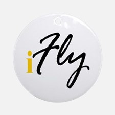 I Fly (black) Ornament (Round)